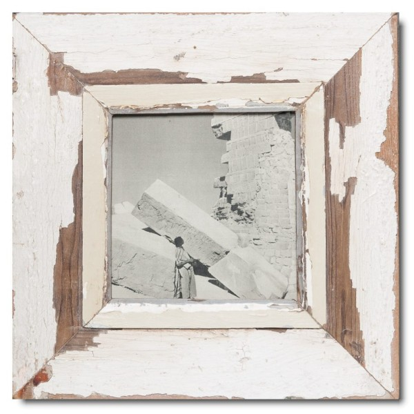 Square rustic timber photo frame for picture size A5 square