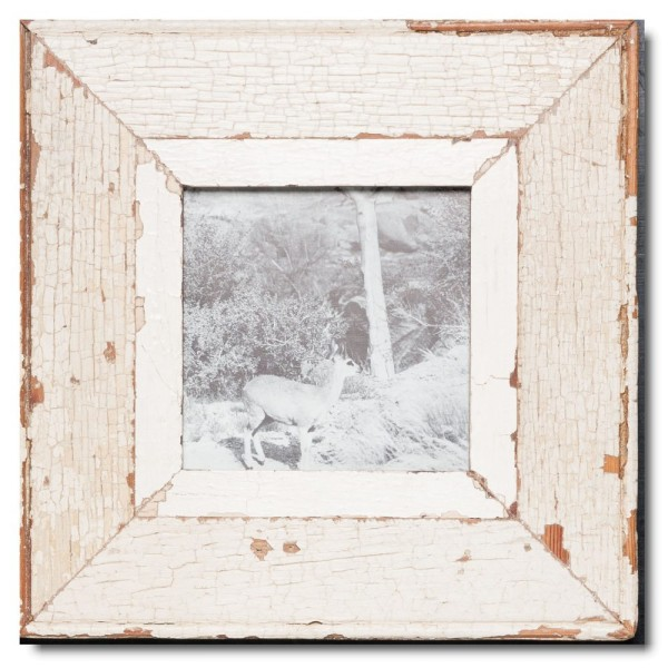 Square Reclaimed wood frame for photo format 14,8 x 14,8 cm