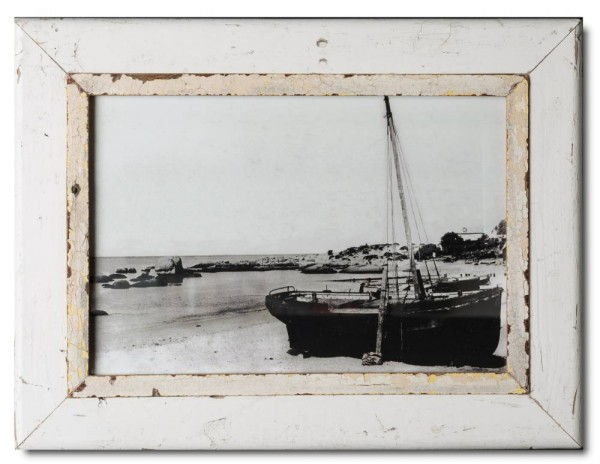 Distressed wooden frame for photo size 42 x 29,7 cm