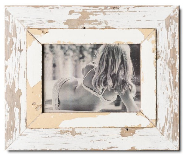Wide rustic timber picture frame for picture size 29,7 x 21 cm