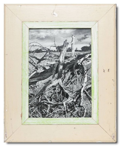 Distressed wooden frame for picture size A4