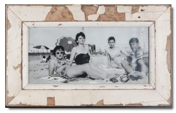 Panoramic reclaimed wood picture frame for photo size 42 x 21 cm