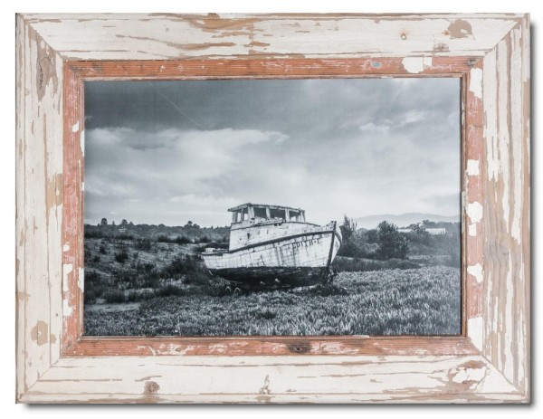Rustic timber photo frame for picture size A3